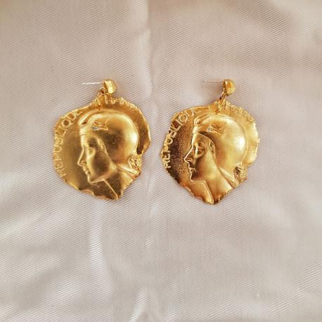 Accentuate Серьги Медаль - Жанна д'Арк
