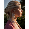 Knitted headpiece with pearls H101