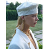 Accentuate handcrafted WHITE BERET H103