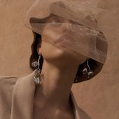 ACCENTUATE SS20 Hat with tulle&CLOUDS earrings  Enquiries DM/lena.romanenko@gmail.com  Директ  _ photo @hellen_livshuk Mua @grinyuka_nastya Model @av.performancee  _ #Accentuate#ss20#collection#mood#fashion#style#fw#beauty#sprigsummer#paris