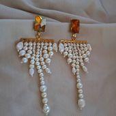 JASMIN post earrings  Freshwater pearls and Swarovski  Enquiries 👉DM/lena.romanenko@gmail.com