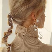 INFANTE earrings with pearls & little cuff earring Enquiries DM/lena.romanenko@gmail.com  #Accentuate#art#design#style#mood#inspiration#look#hair#styleoftheday