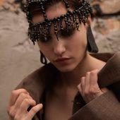 SS20  Black quartz headpiece 💣 Enquiries DM/lena.romanenko@gmail.com  #Accentuate#headpiece#coachella#style#inspired#inspiration#ootd#look#fashion#art#photoshoot#ss20