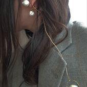 ECLIPSE #1 earrings  Серьги из коллекции ECLIPSE  Натуральный жемчуг , латунь, позолота 24к , купить 👉ДИРЕКТ/TO BYE 👉DM  #Accentuate#Eclipse#collection#style#art