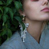 JASMIN  post earrings with natural pearls and Swarovski stone Enquiries 👉DM/lena.romanenko@gmail.com